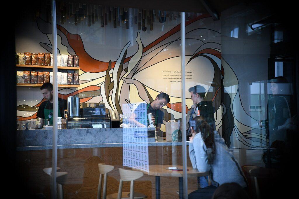 Mural for Startbucks Serbia