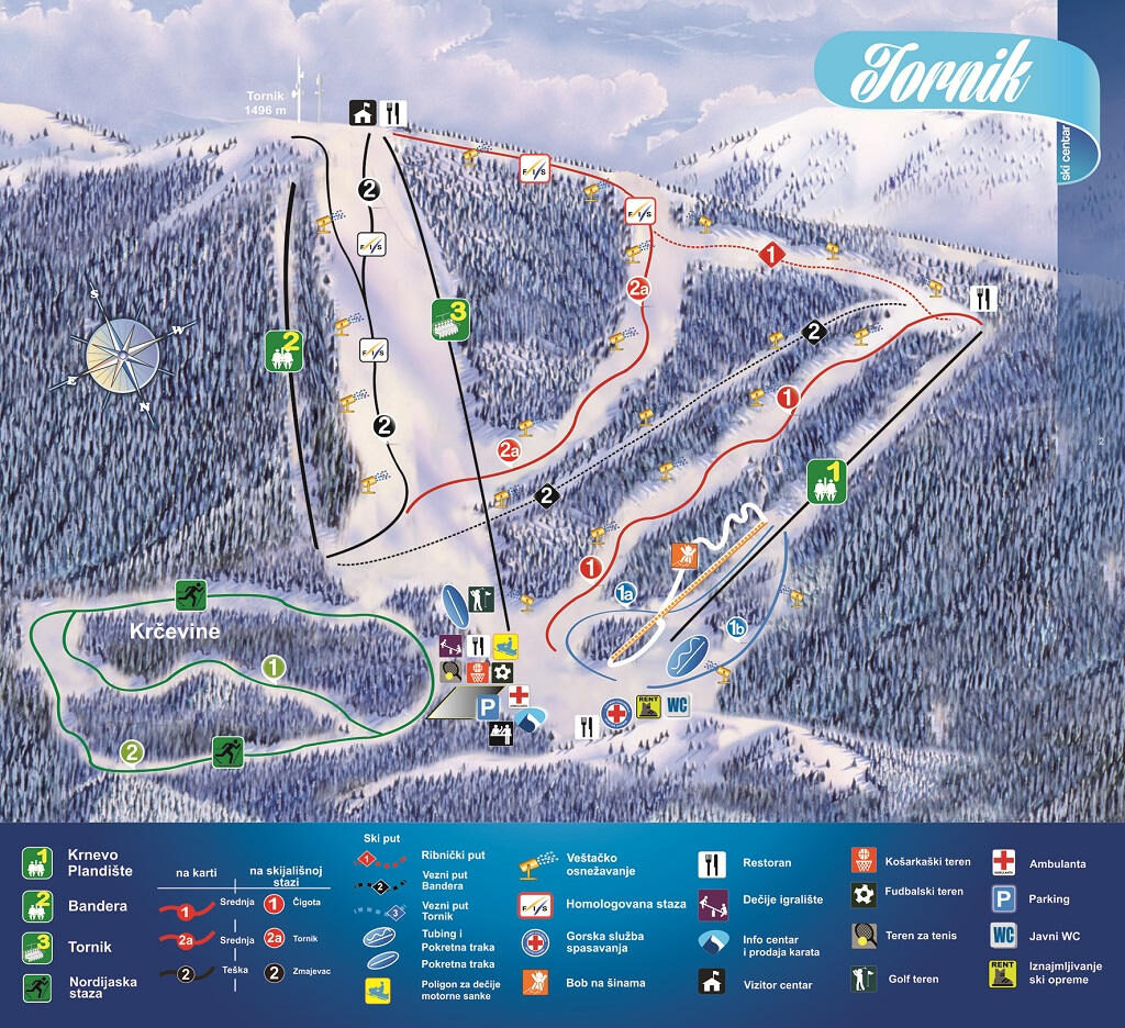 Mountain map by Marija Nišić
